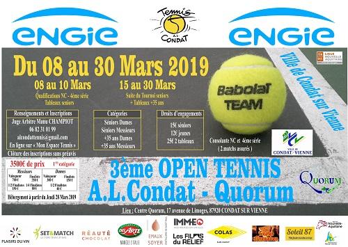 3ème Open Tennis Ville de Condat - AL Condat - Quorum