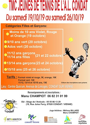 TOURNOI DE TENNIS JEUNES 2017