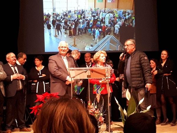 B.Genest, maire de Condat et les co-présidents, O. Piquet et J.-L. Mouzet