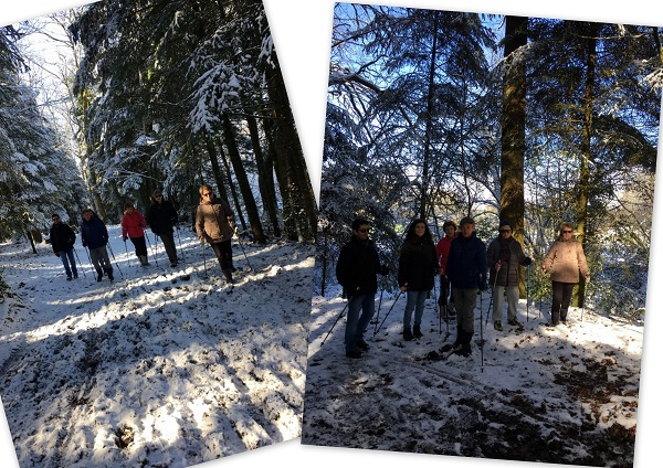 Rando hivernale en Marche Nordique !