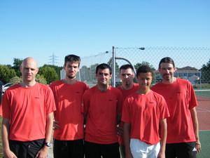 TENNIS - MONTEE EN DIVISION NATIONALE 4 pour l'Equipe 1 masculine de l'ALC
