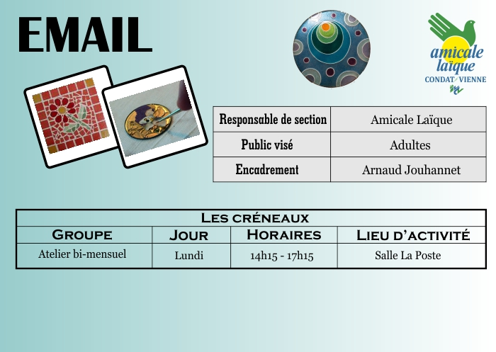 Atelier EMAIL