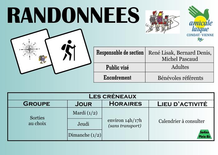 RANDONNEES PEDESTRES
