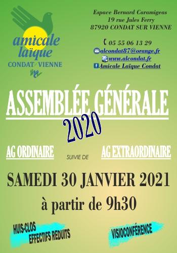 ASSEMBLEE GENERALE 2020 - SAMEDI 30 JANVIER 2021