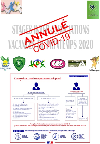 Stages INTER ASSOCIATIONS - Printemps 2021