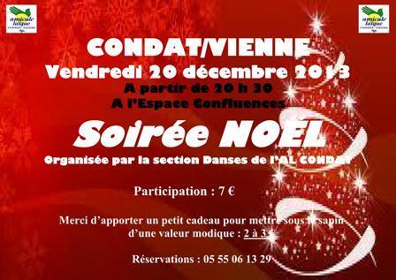 NOUVELLE SOIREE DANSES : LA SOIREE DE NOEL