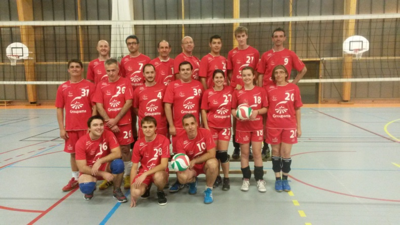 L'Equipe de l'AL Condat 2 Volley a joué les Play-Off 2016. Résultat : Victoire !