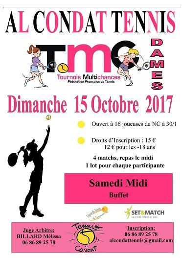 TMC Dames : 1er tournoi de la saison