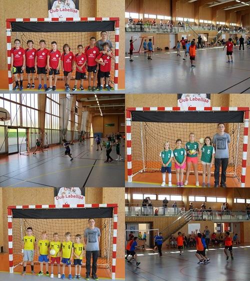 Les équipes des Jeunes Handballeurs Moins de 9 et 11 ans