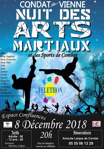 TELETHON 2018 : Nuit des Arts Martiaux