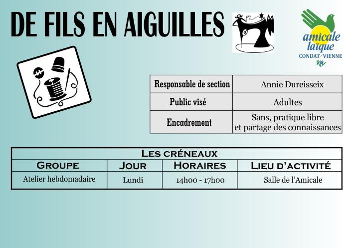 DE FILS EN AIGUILLES