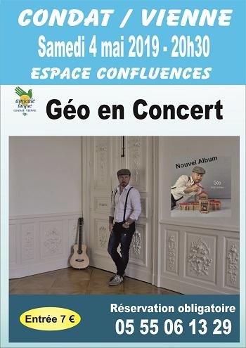 La section Théâtre de l'AL Condat invite Géo en concert
