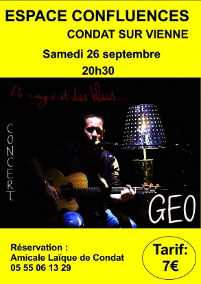 La section THEATRE reçoit GEO en CONCERT